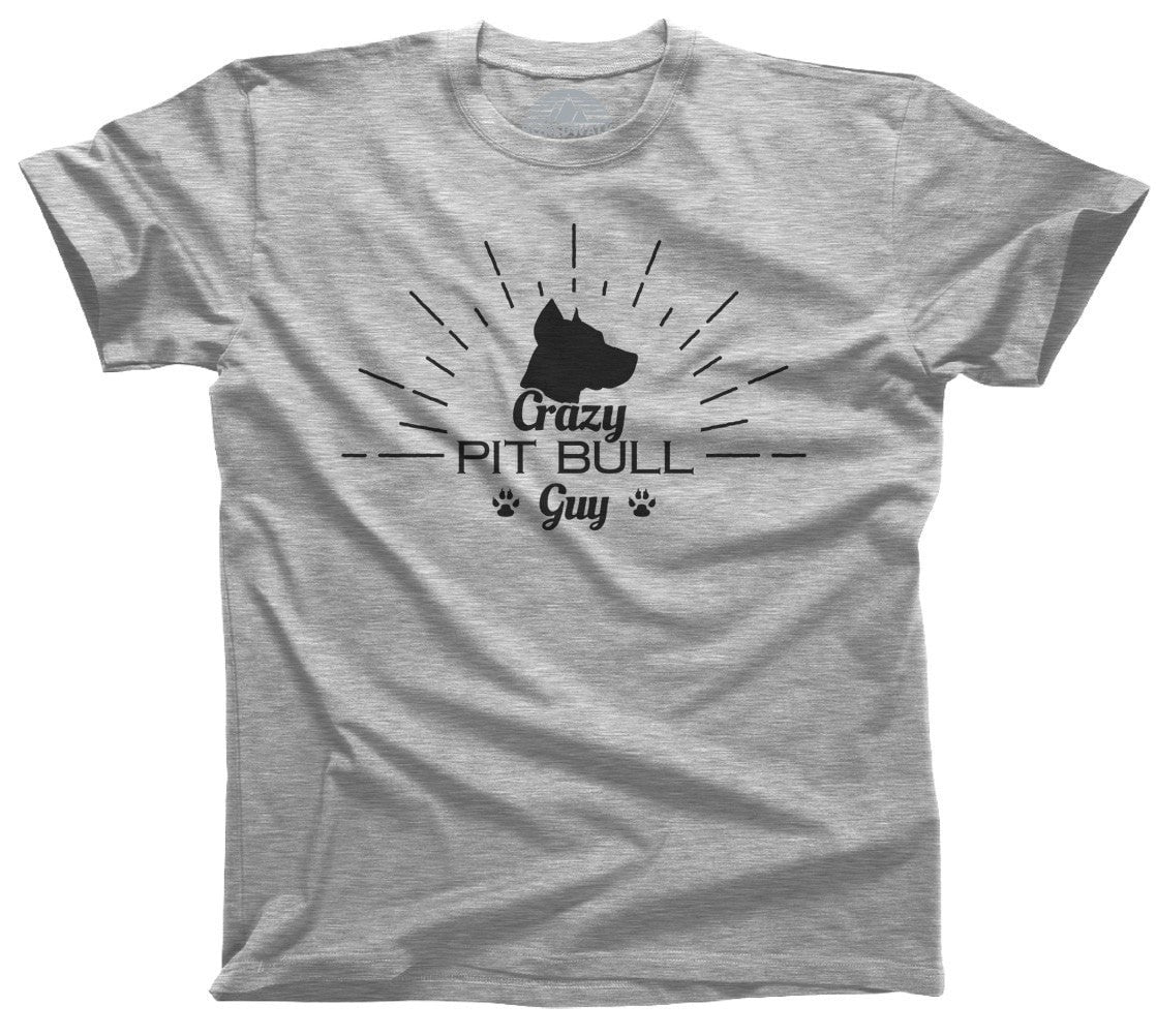 Men's Crazy Pit Bull Guy T-Shirt