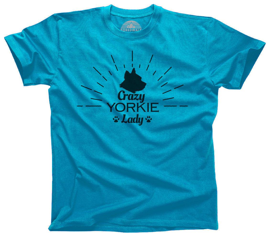 Crazy Yorkie Lady T-Shirt  - Relaxed Unisex Fit