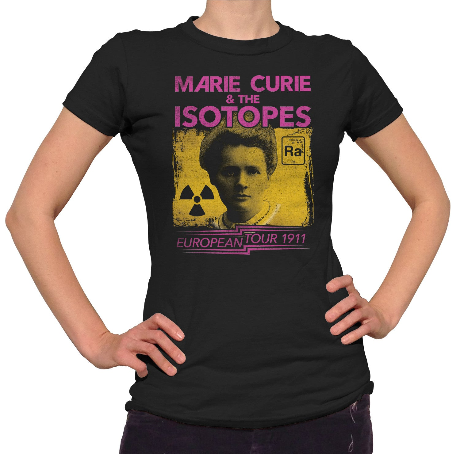1596e52b Women's Marie Curie European Tour T-Shirt - Scientist Shirt – Boredwalk