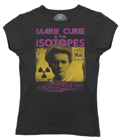 Women's Marie Curie European Tour T-Shirt - Scientist Shirt