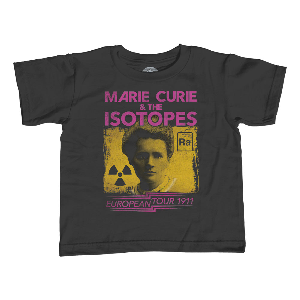 Girl's Marie Curie European Tour T-Shirt - Unisex Fit - Scientist Shirt