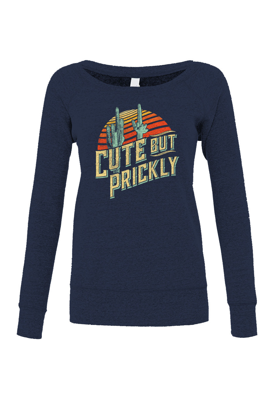 Women's Cute But Prickly Scoop Neck Fleece - Cactus Shirt