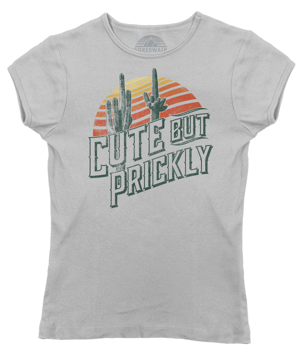 Women's Cute But Prickly T-Shirt - Cactus Shirt