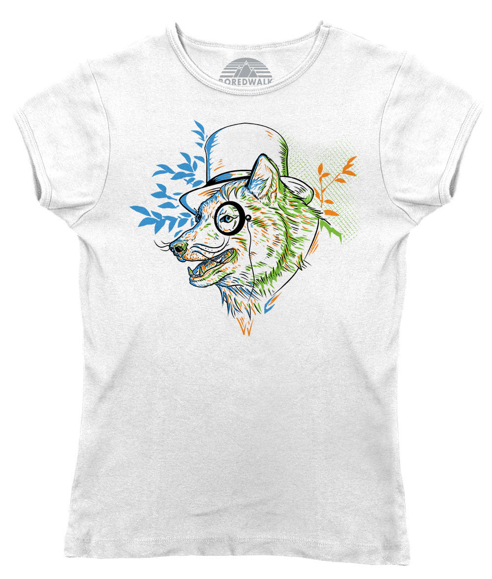 Women's Steampunk Wolf T-Shirt