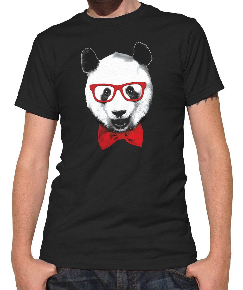 Men's Fancy Panda With Glasses T-Shirt
