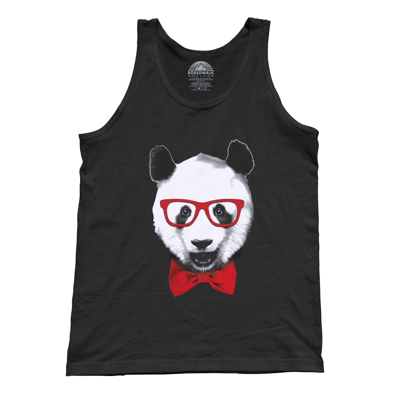 Unisex Fancy Panda With Glasses Tank Top
