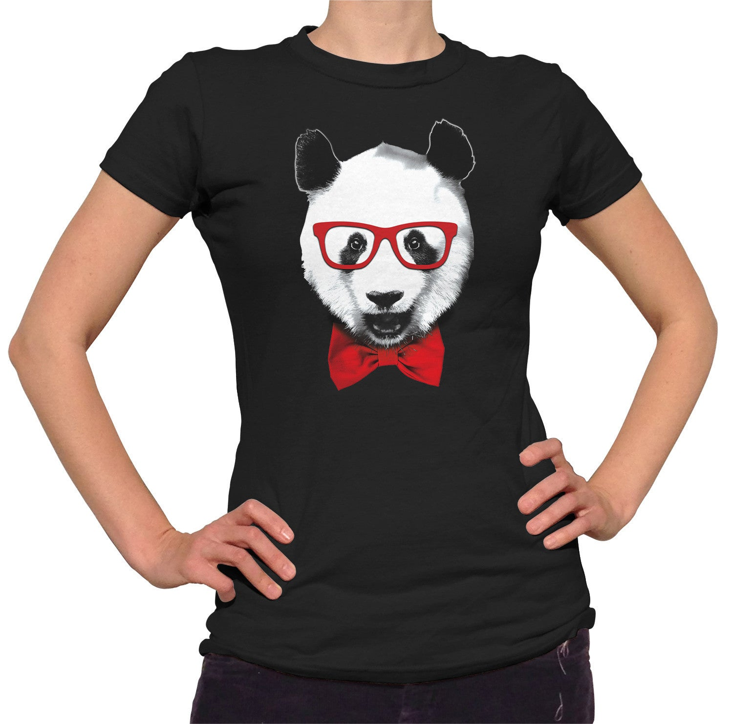 Women's Fancy Panda With Glasses T-Shirt