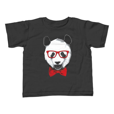 Girl's Fancy Panda With Glasses T-Shirt - Unisex Fit
