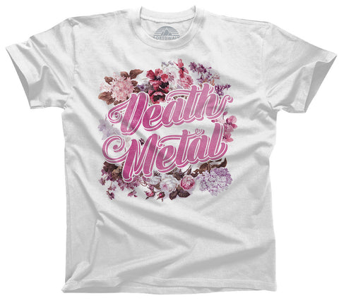 Women's Funny Floral Death Metal T-Shirt  - Relaxed Unisex Fit