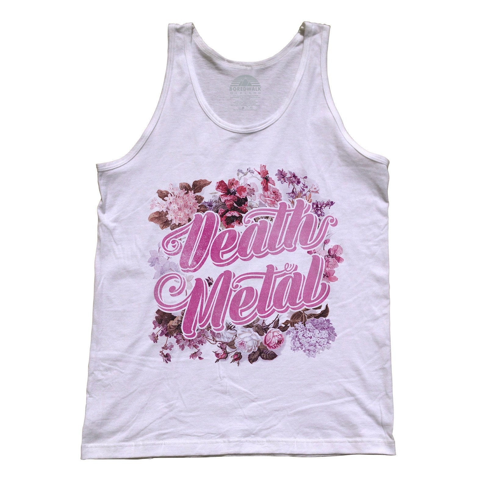179e3e293 Unisex Gangster As Fuck Tank Top - Ironic Funny Floral Boho Chic ...