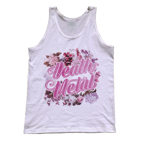 Unisex Funny Floral Death Metal Tank Top