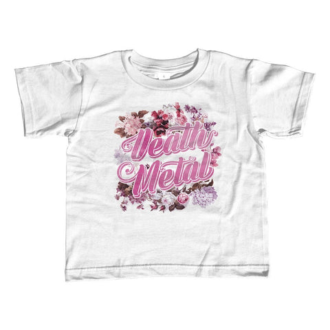 Girl's Funny Floral Death Metal T-Shirt - Unisex Fit