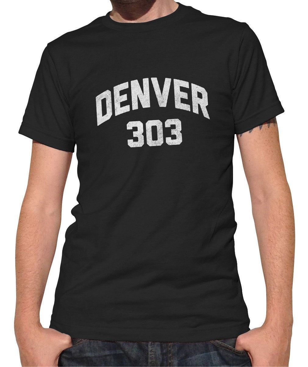 Men's Denver 303 Area Code T-Shirt