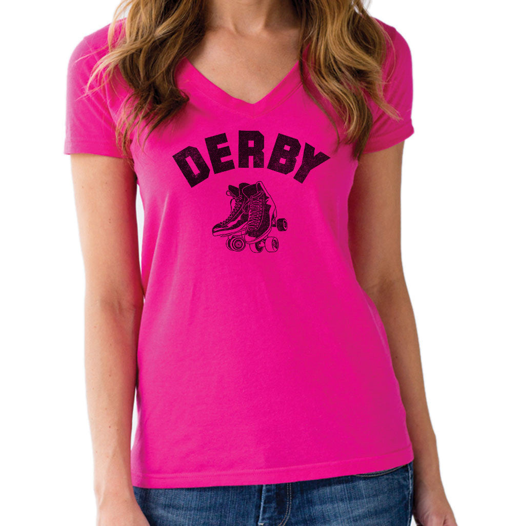 Women's Roller Derby Vneck T-Shirt