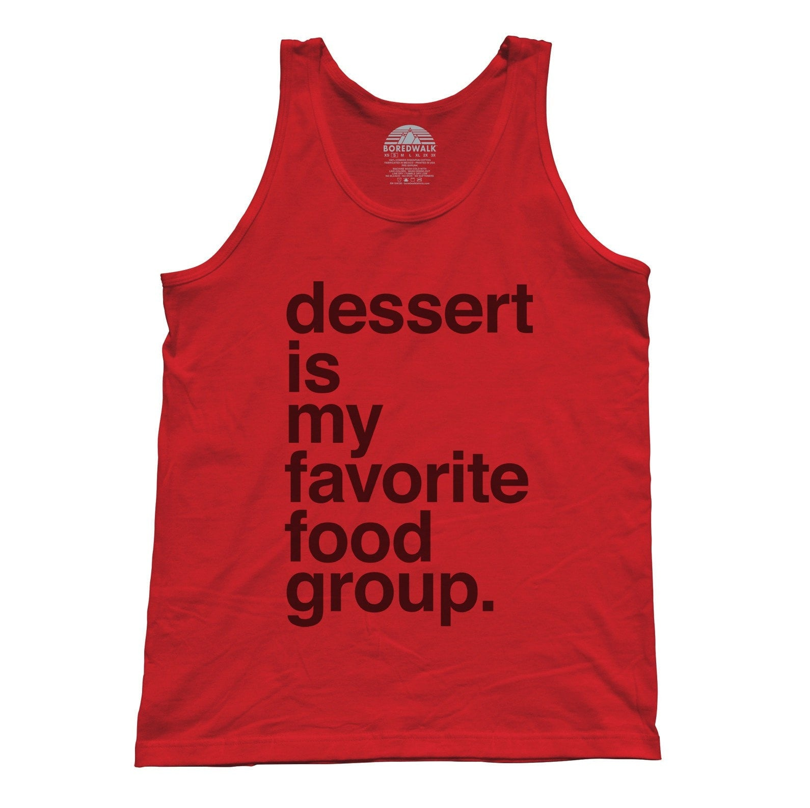 Unisex Dessert is my Favorite Food Group Tank Top - Hipster Funny Foodie