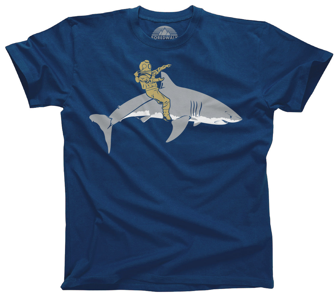 Men's Diver Riding a Shark T-Shirt - By Ex-Boyfriend