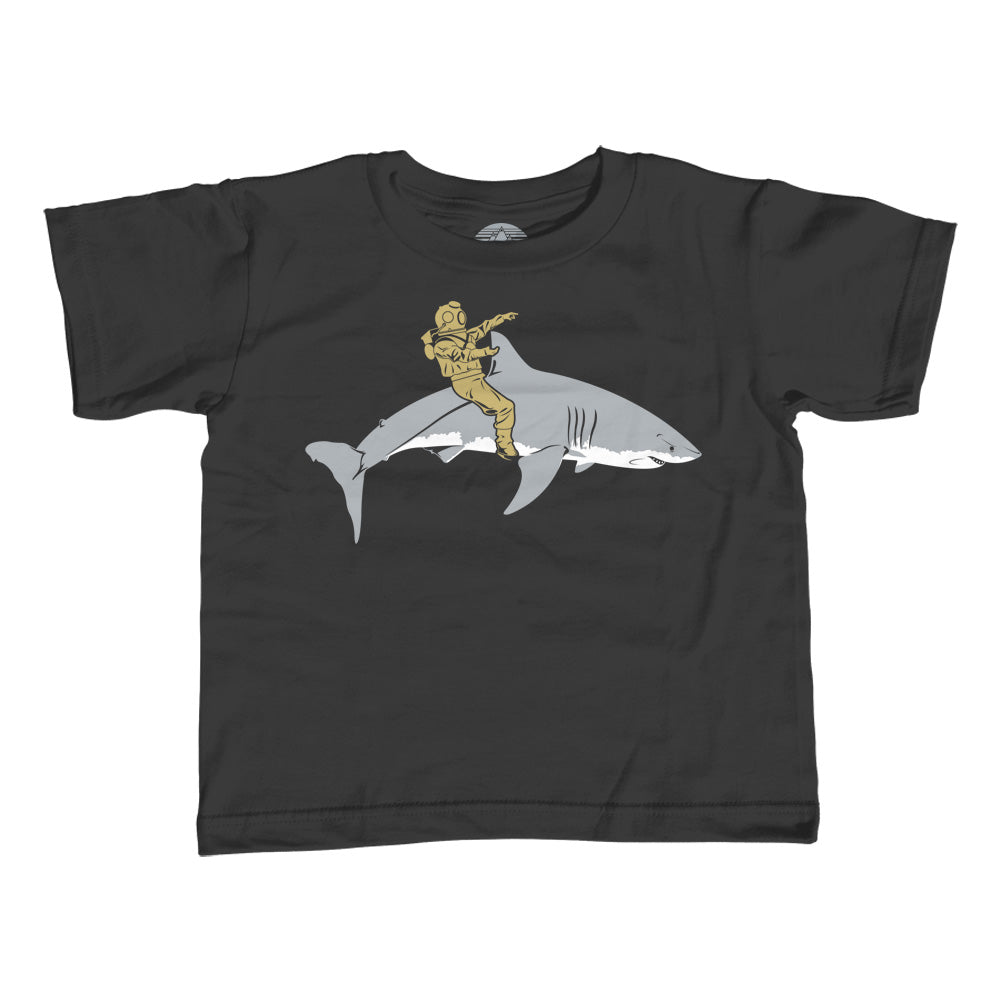 Boy's Diver Riding a Shark T-Shirt - By Ex-Boyfriend