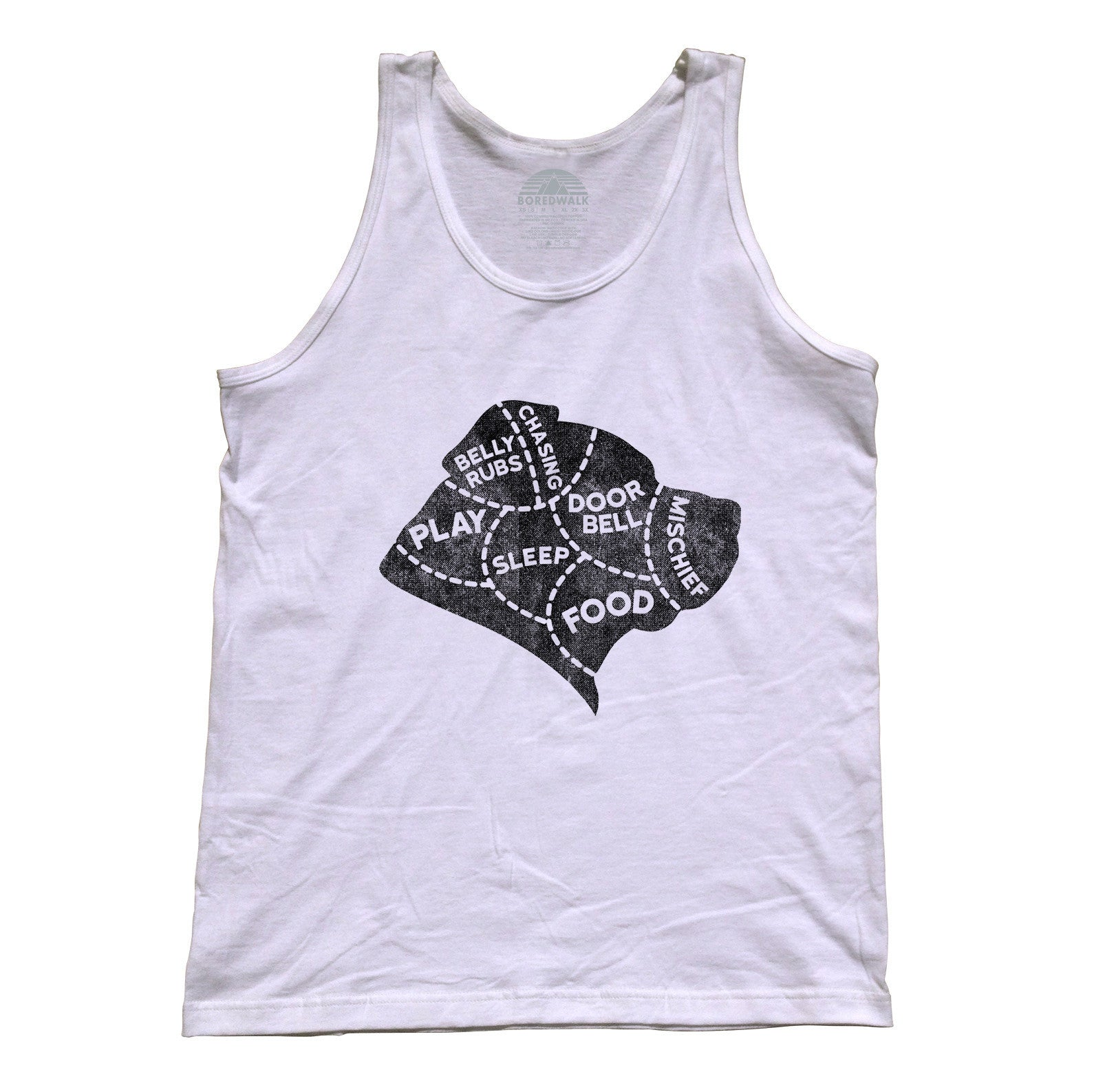 Unisex The Mind of A Dog Tank Top