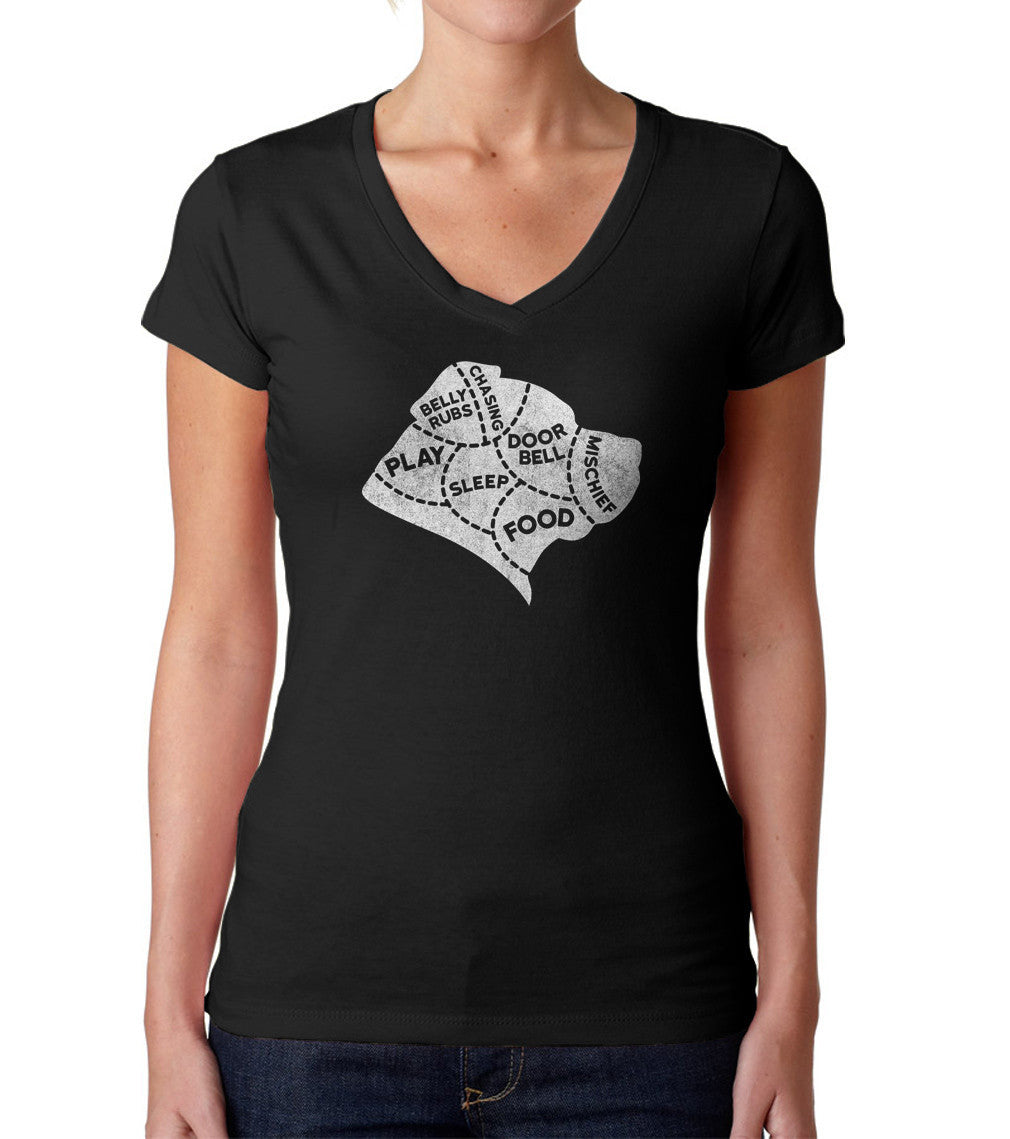 Women's The Mind of A Dog Vneck T-Shirt