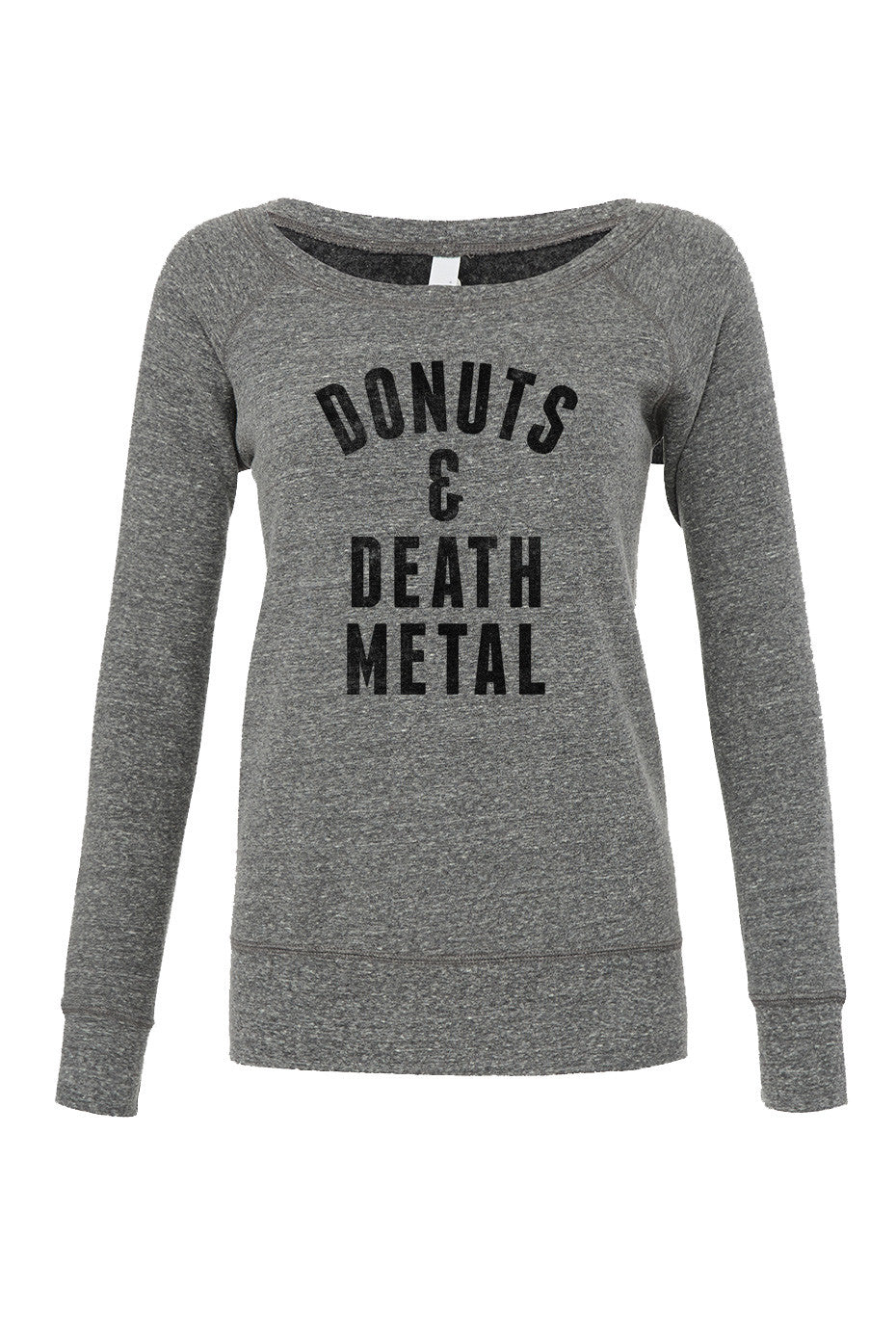 Women's Donuts and Death Metal Scoop Neck Fleece