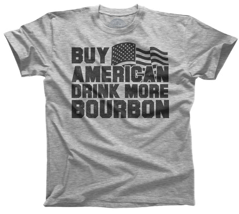 Men's Buy American Drink More Bourbon T-Shirt