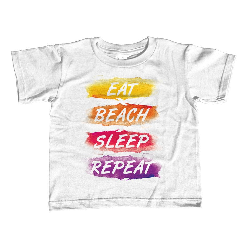 Girl's Eat Beach Sleep Repeat T-Shirt - Unisex Fit Summer Vacation