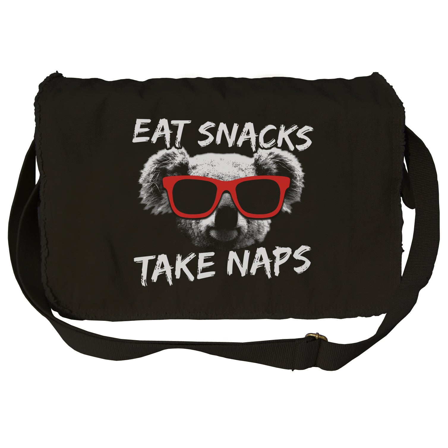 Eat Snacks Take Naps Koala Messenger Bag