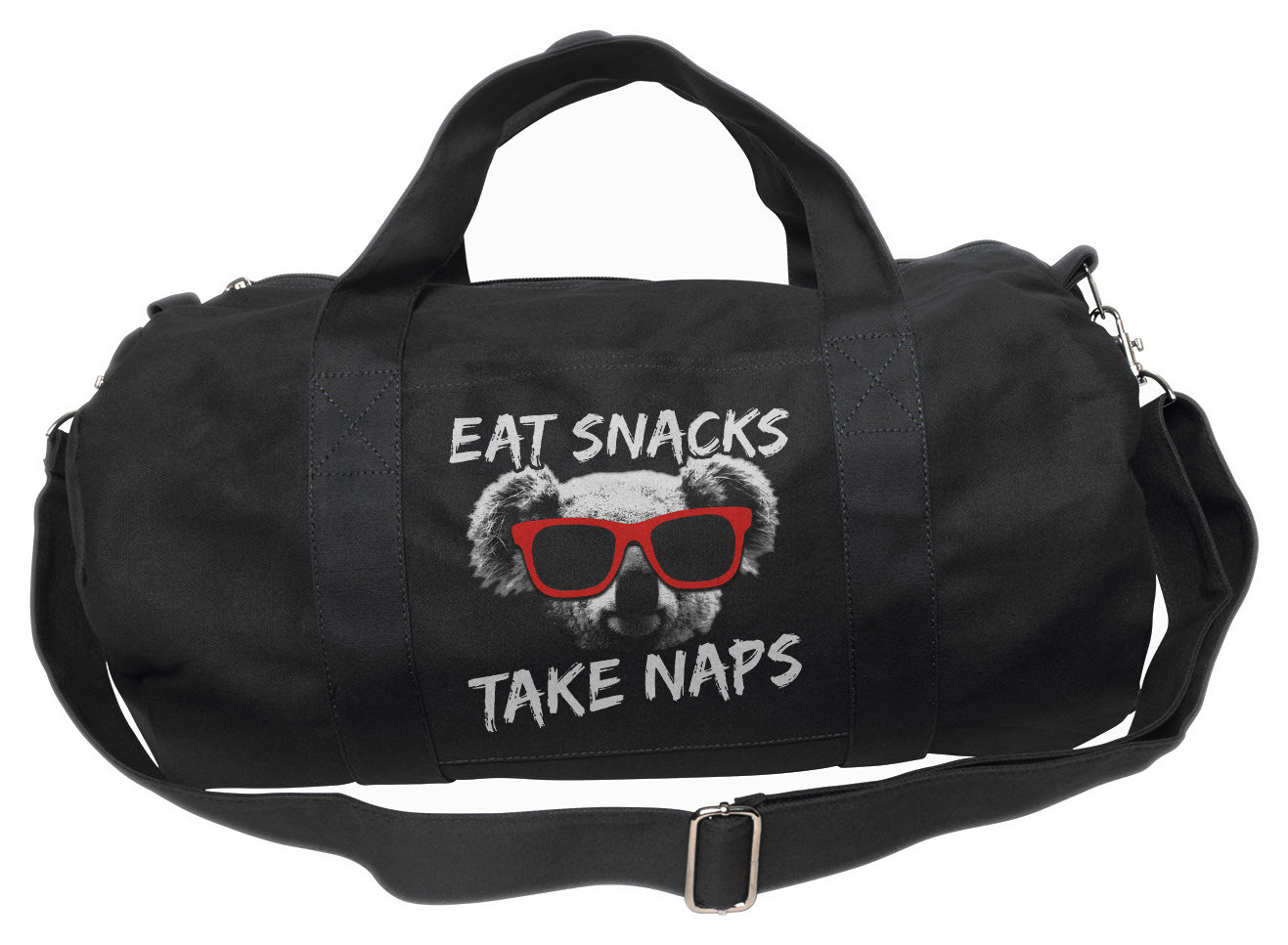 Eat Snacks Take Naps Koala Duffel Bag