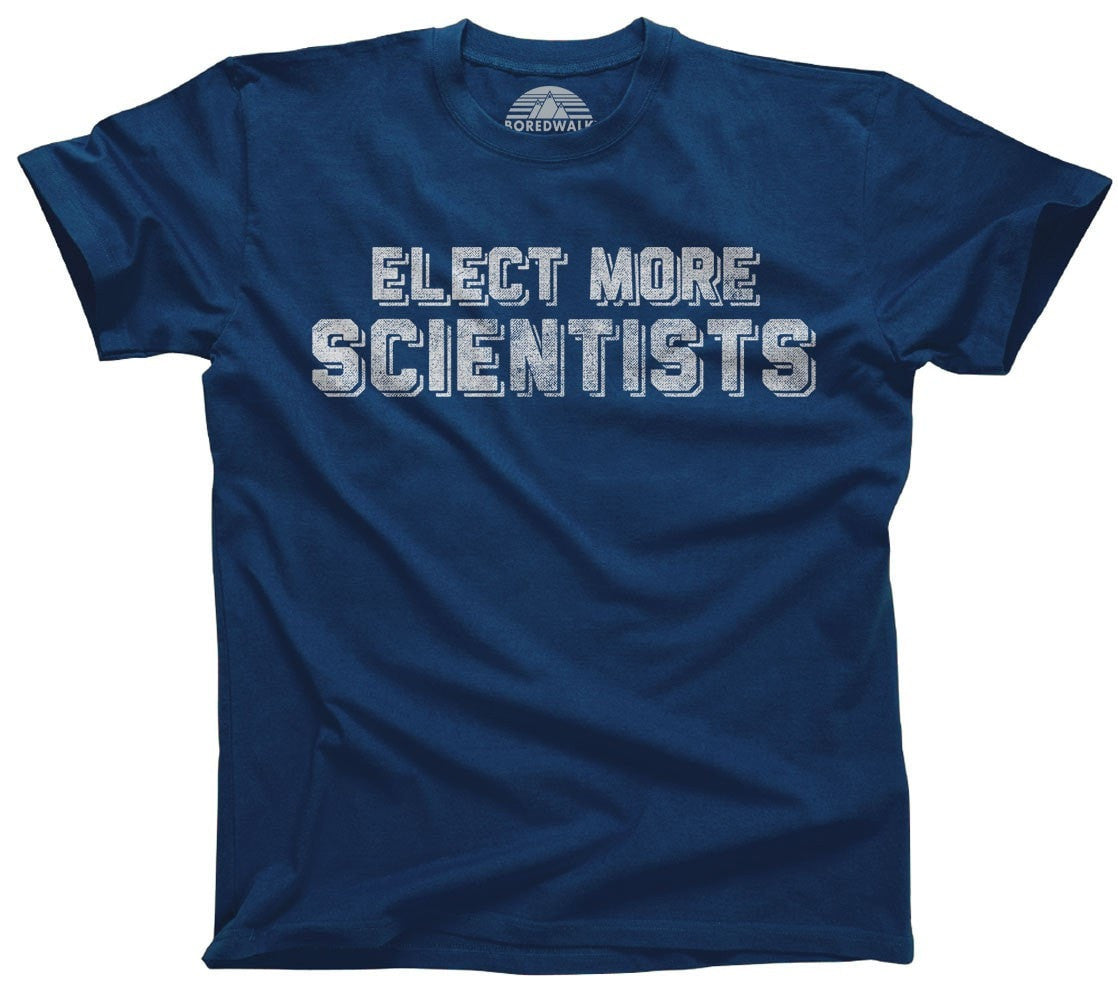 Men's Elect More Scientists T-Shirt Science TShirt