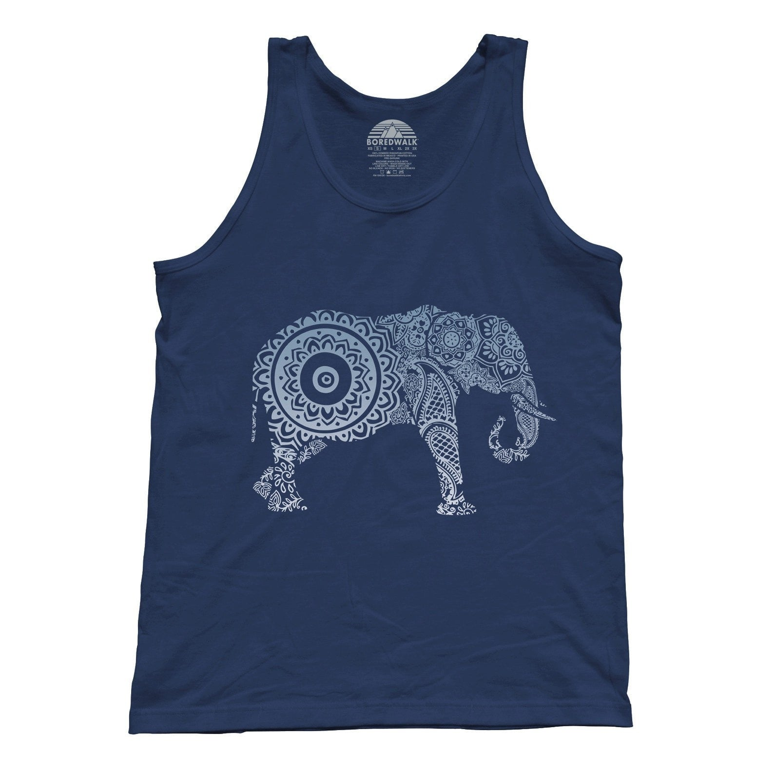 Unisex Mandala Elephant Tank Top New Age Yoga