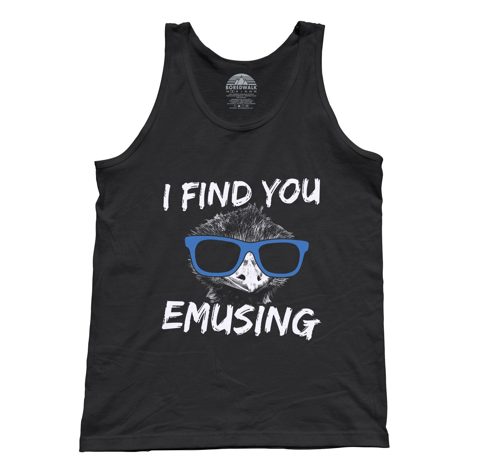 Unisex I Find You Emusing Tank Top