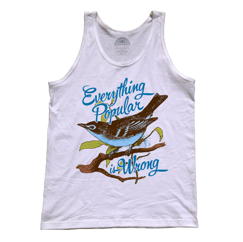 Unisex Everything Popular is Wrong Bird Tank Top