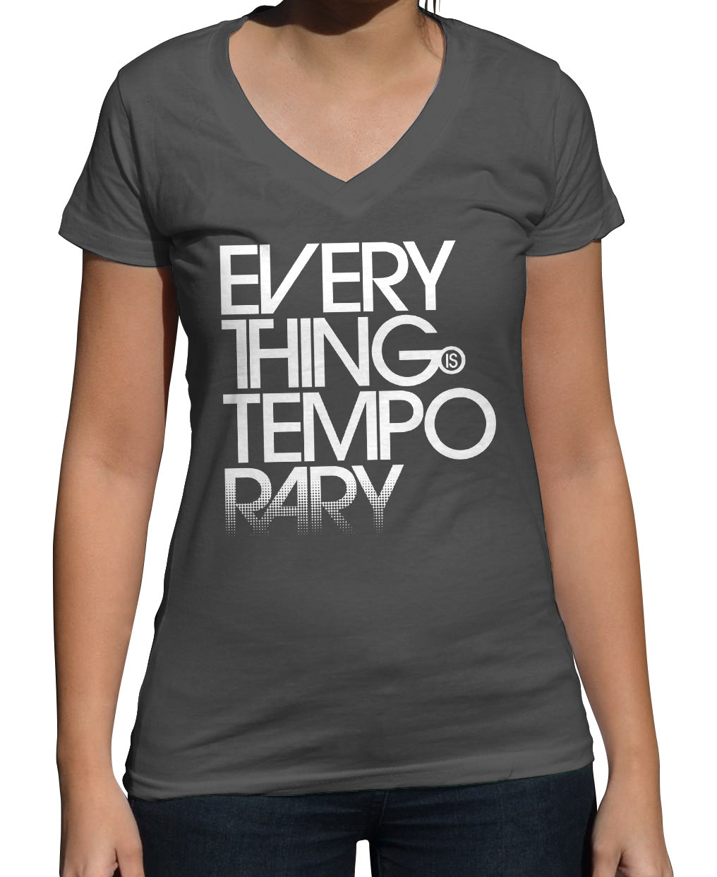 Women's Everything is Temporary Vneck T-Shirt