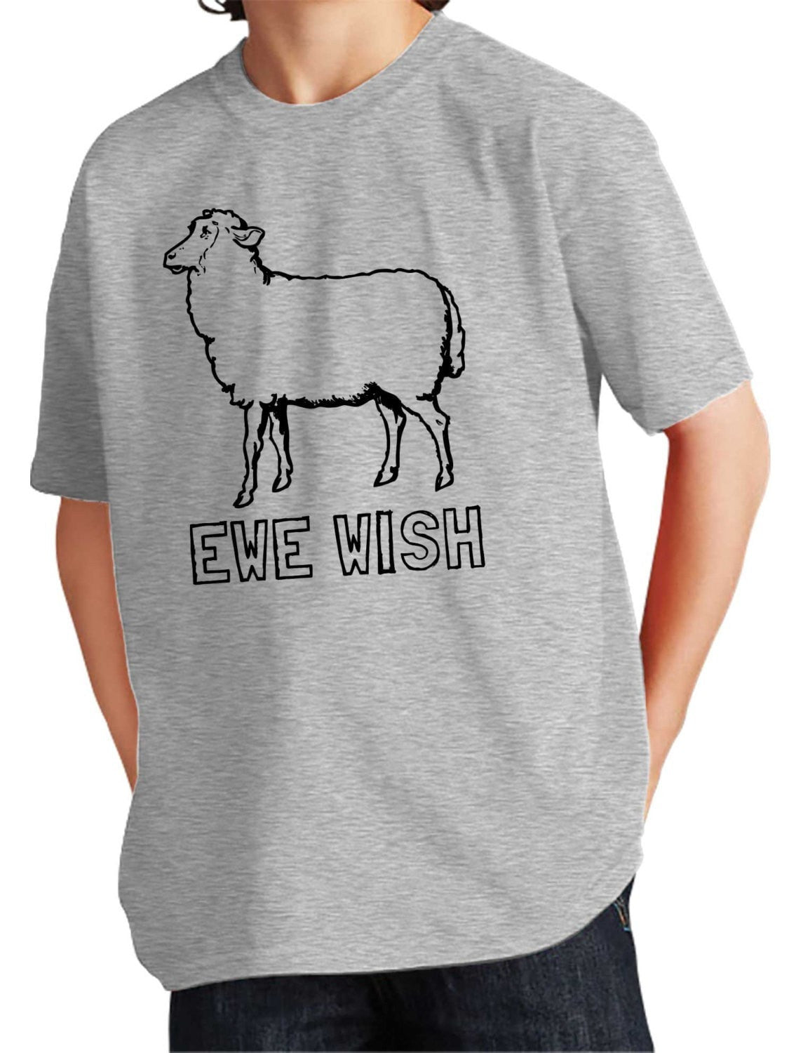 Boy's Ewe Wish T-Shirt Funny Sheep Shirt