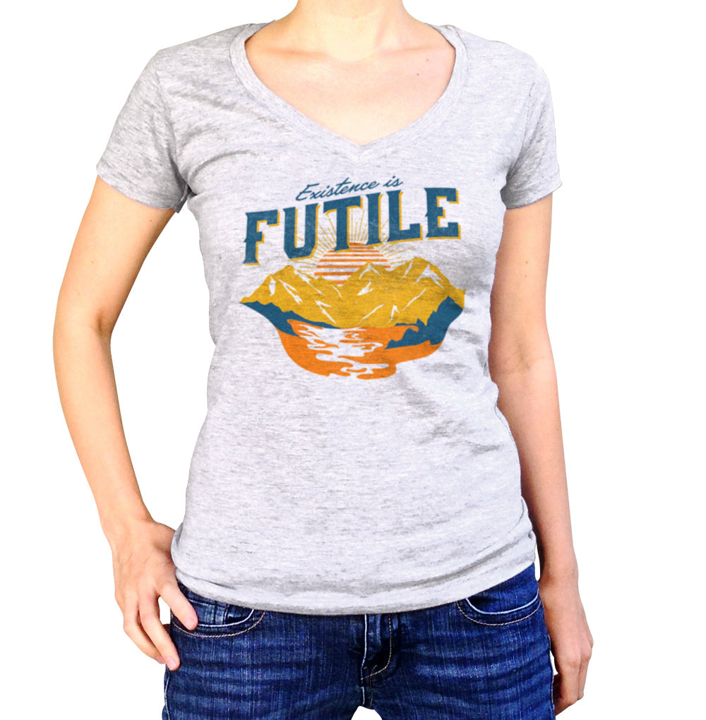 Women's Existence is Futile Vneck T-Shirt