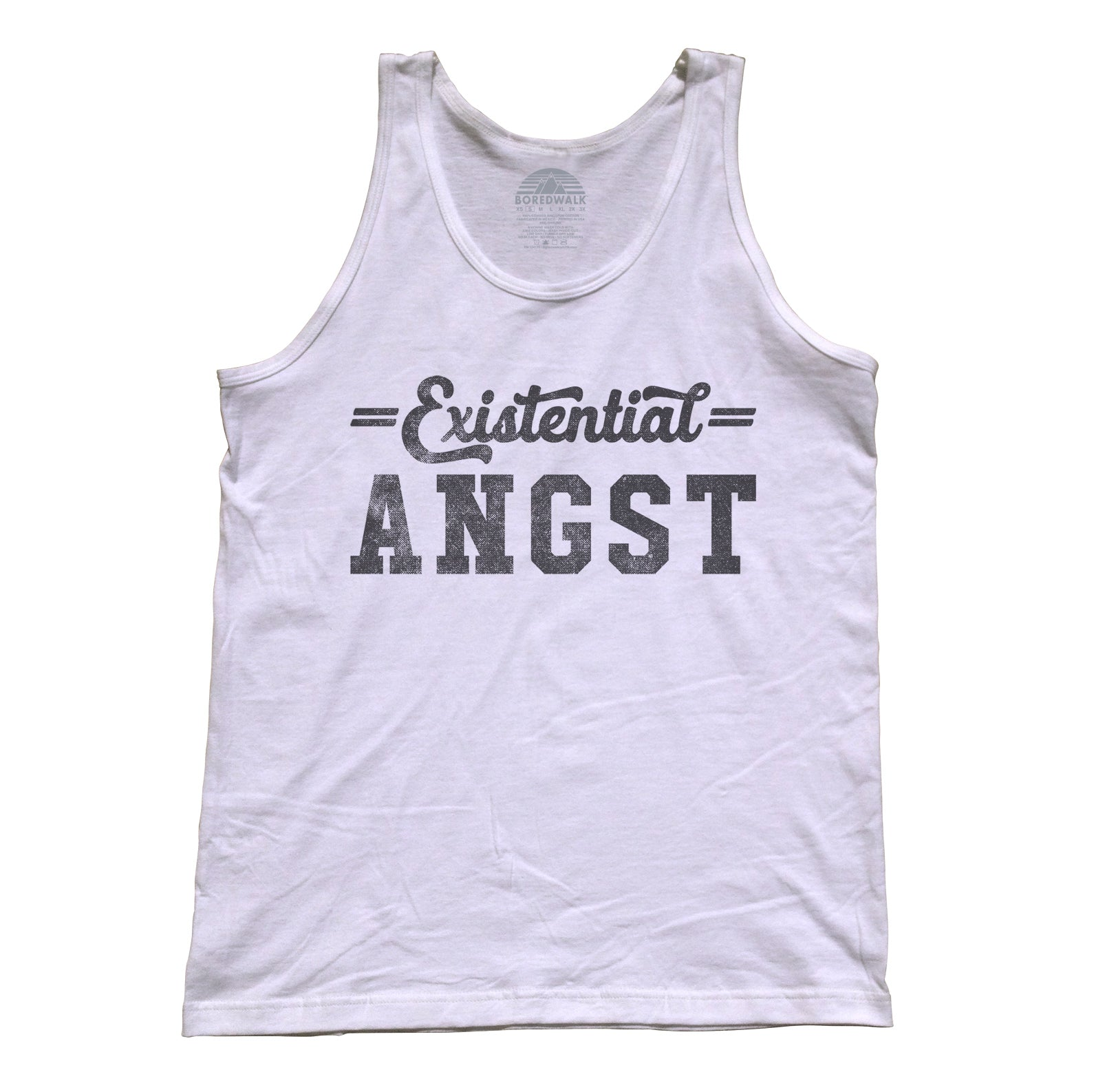 Unisex Existential Angst Tank Top - Funny Existentialism Shirt