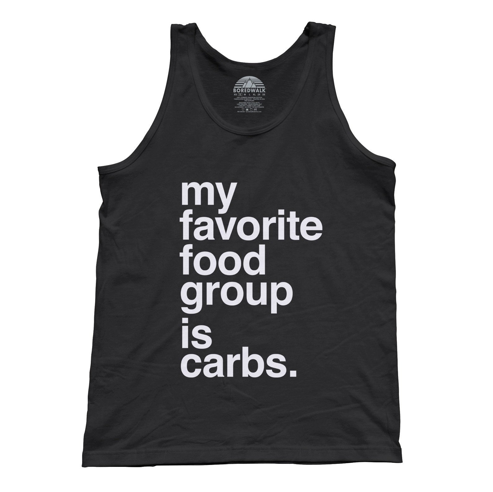 Unisex My Favorite Food Group is Carbs Tank Top