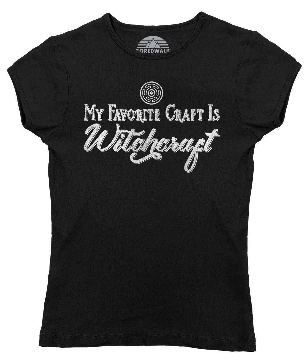 Women's My Favorite Craft is Witchcraft T-Shirt - Juniors Fit