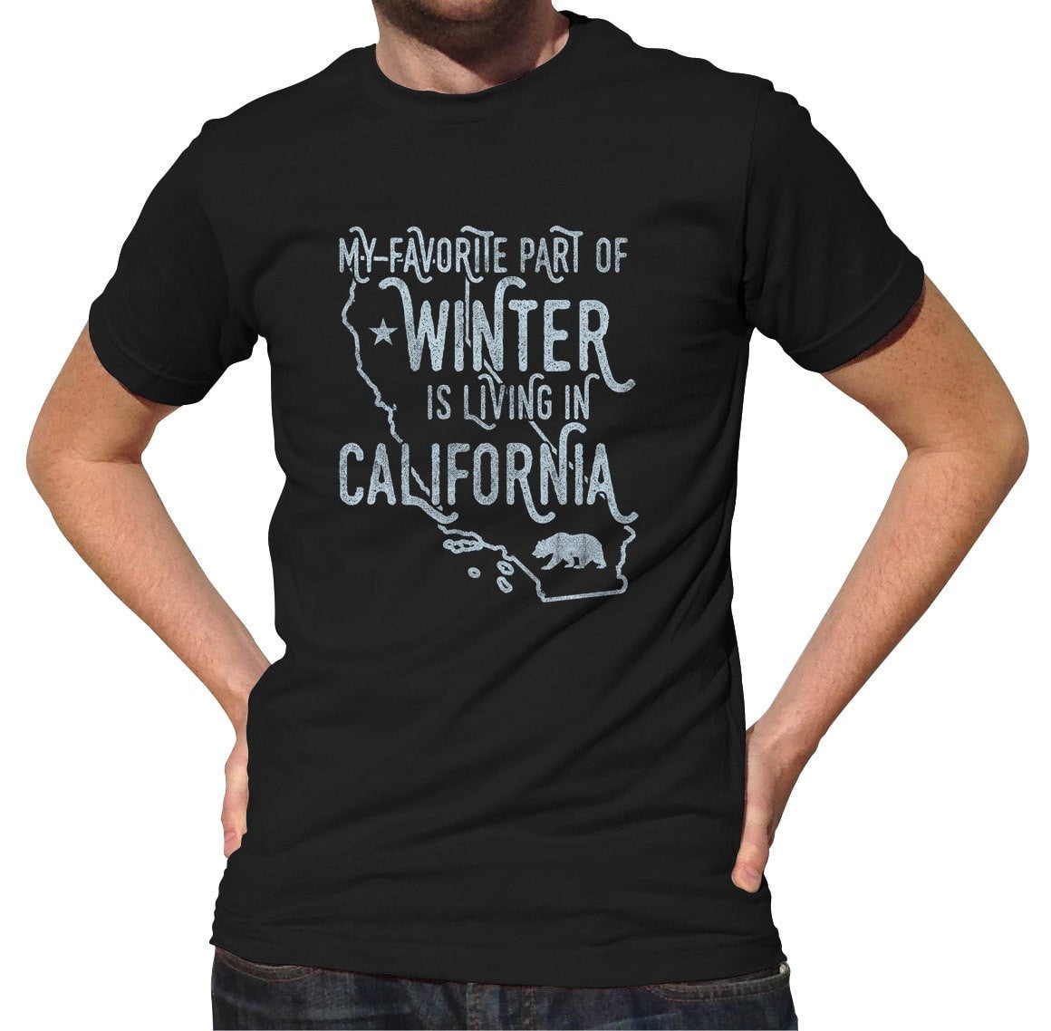 Men's My Favorite Part of Winter is Living in California T-Shirt Golden State T-Shirt