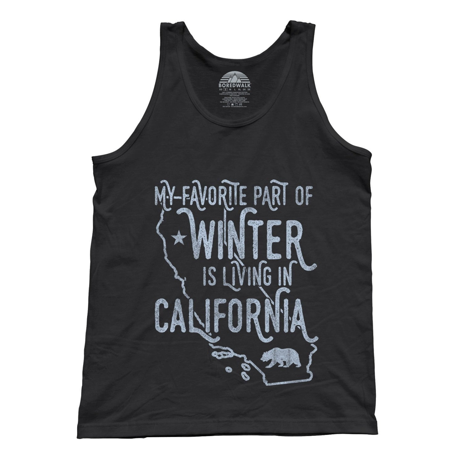 Unisex My Favorite Part of Winter is Living in California Tank Top Golden State