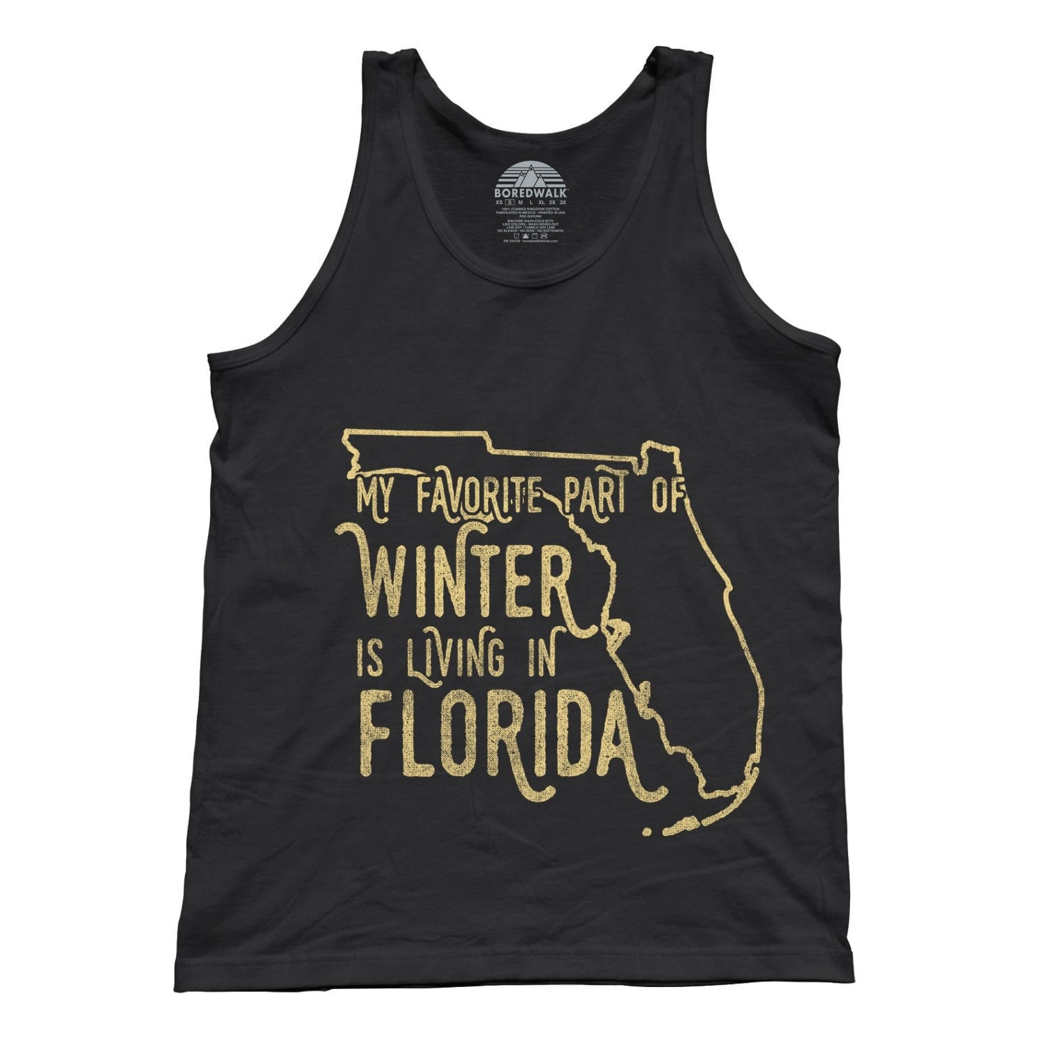 Unisex My Favorite Part of Winter is Living in Florida Tank Top