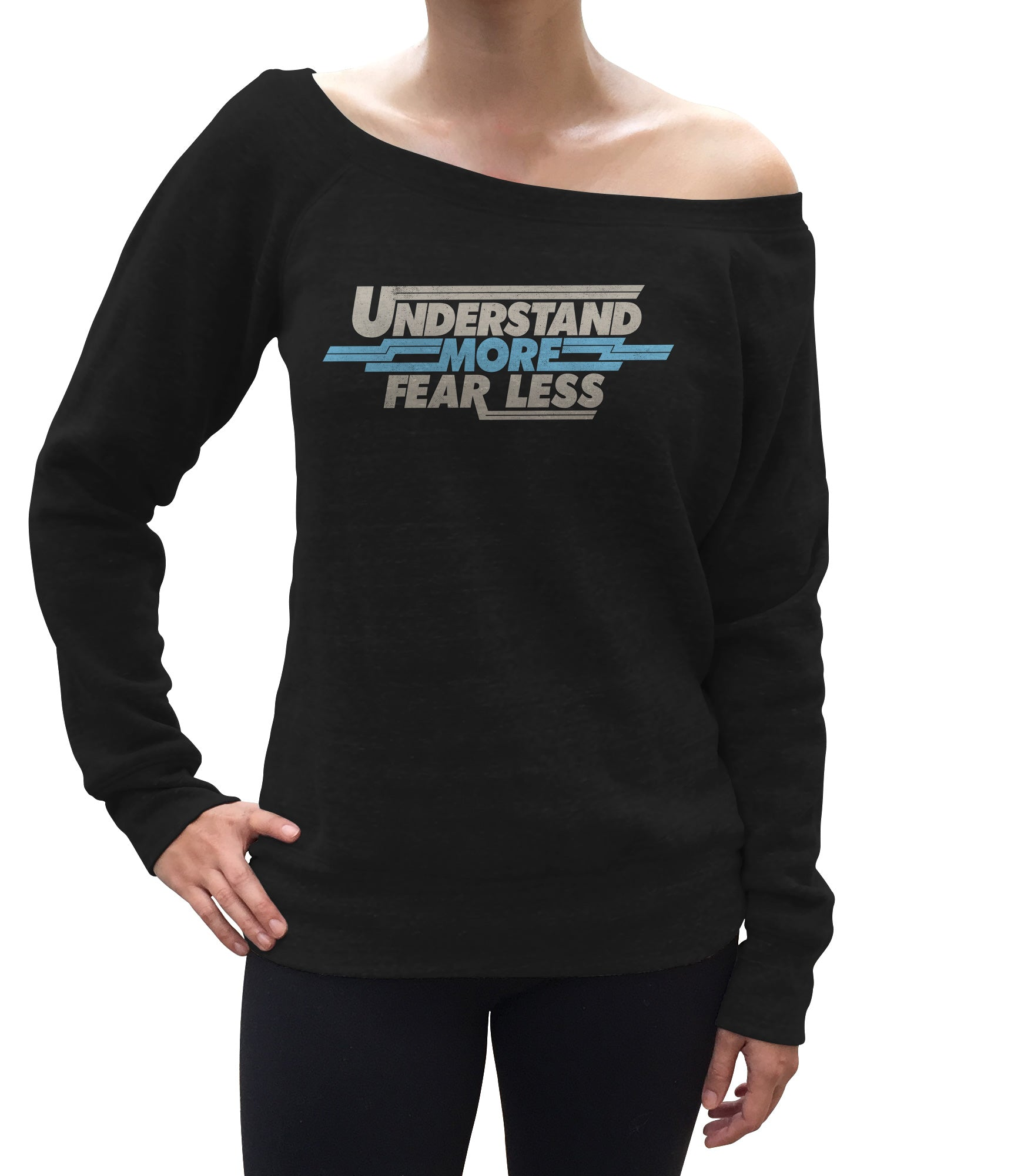 Women's Understand More Fear Less Scoop Neck Fleece