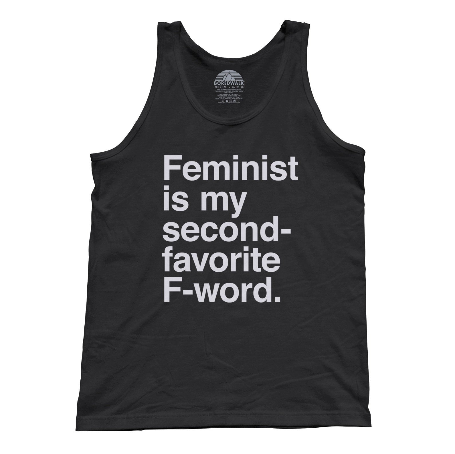 Unisex Feminist is My Second Favorite F Word Tank Top