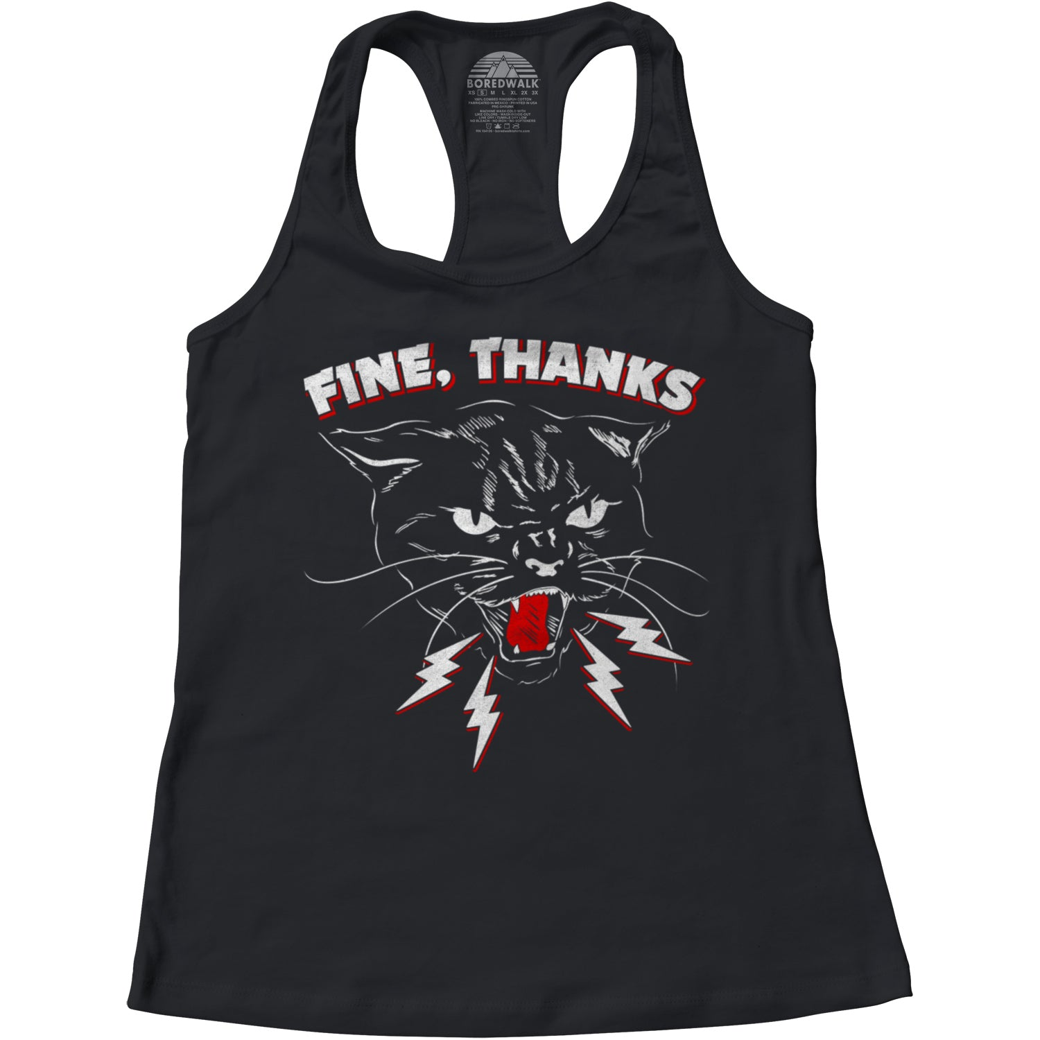 Women's Fine Thanks Racerback Tank Top