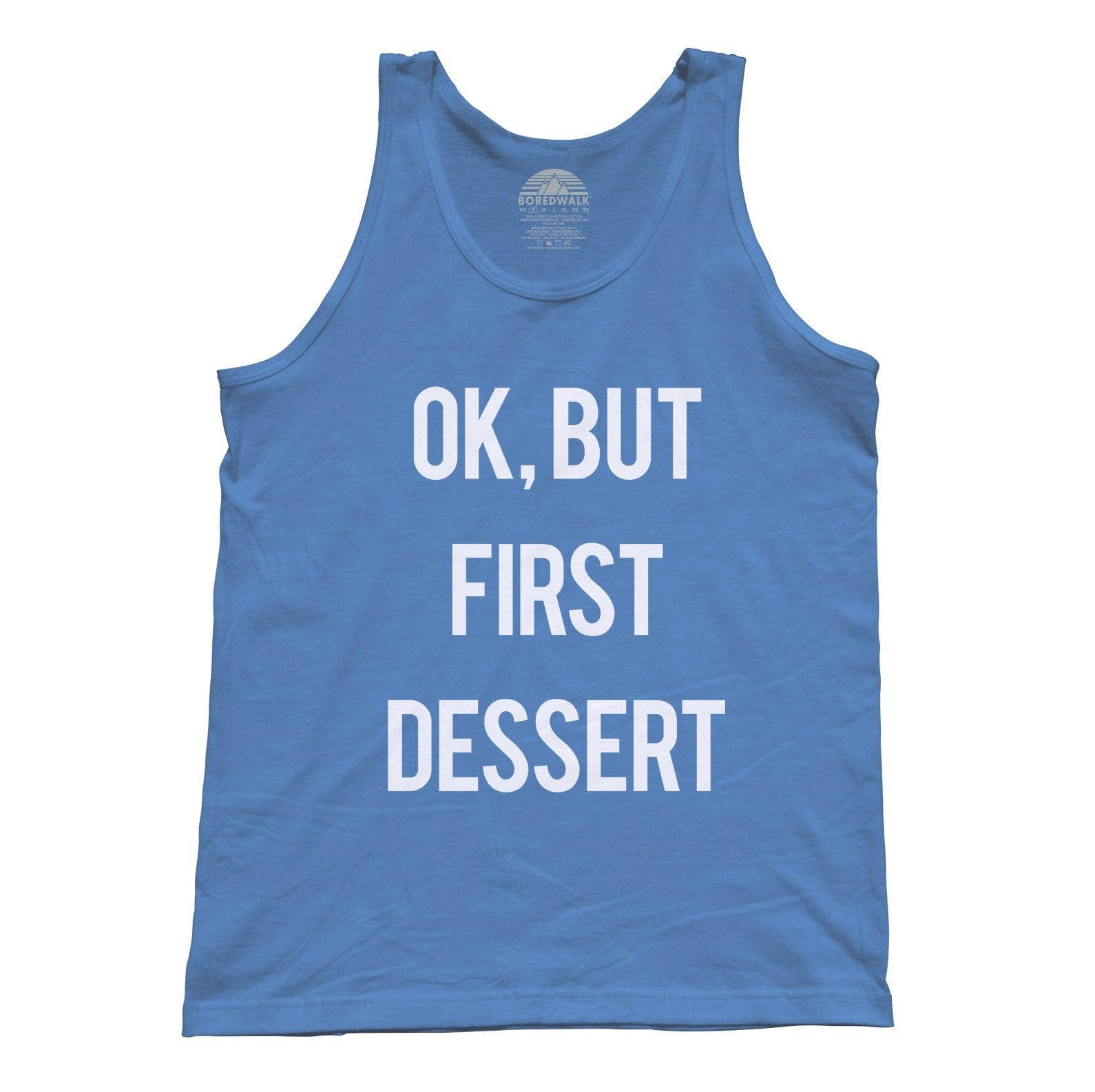 Unisex OK But First Dessert Tank Top - Funny Hipster Foodie