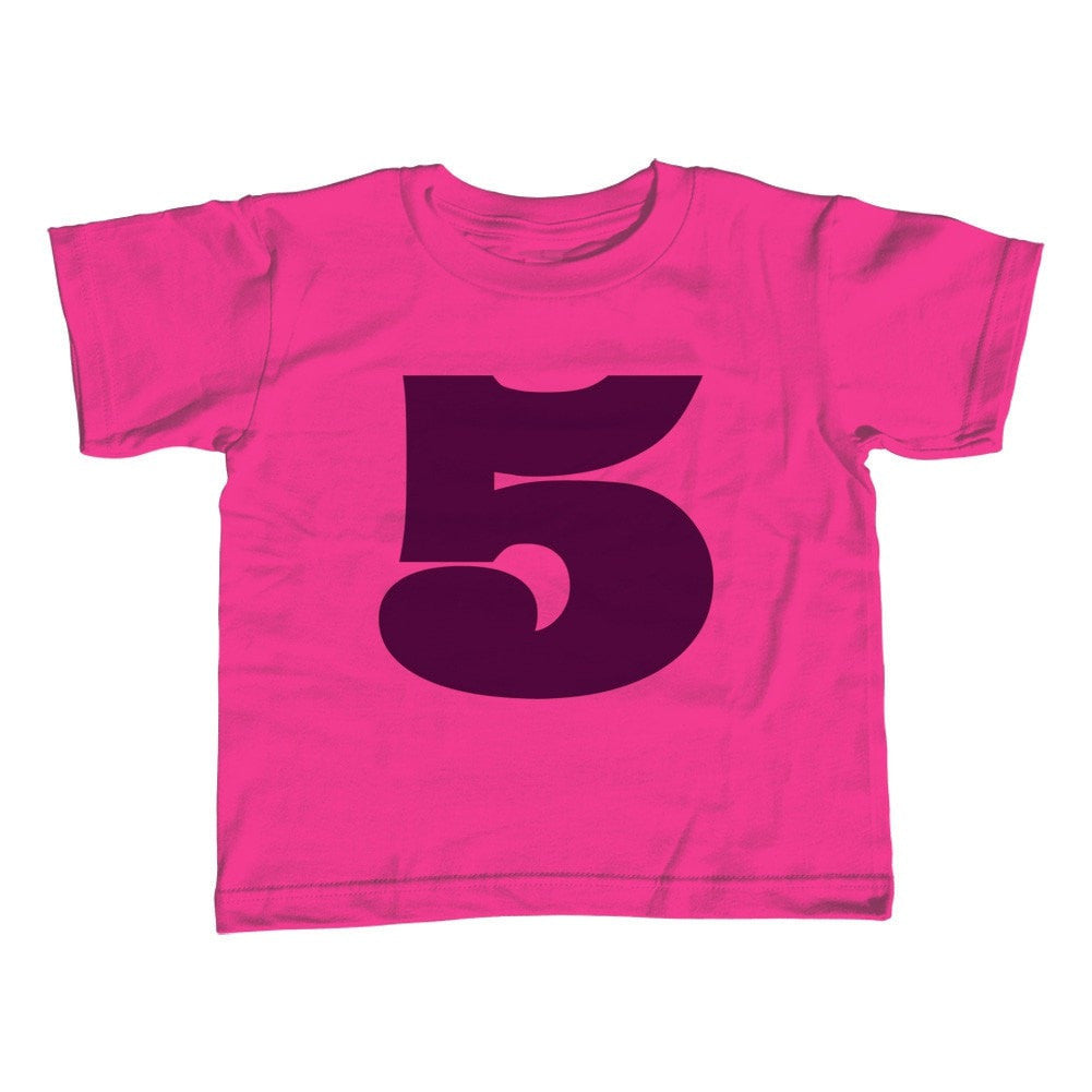 Girl's Fifth Birthday Five T-Shirt - Unisex Fit 5th Birthday