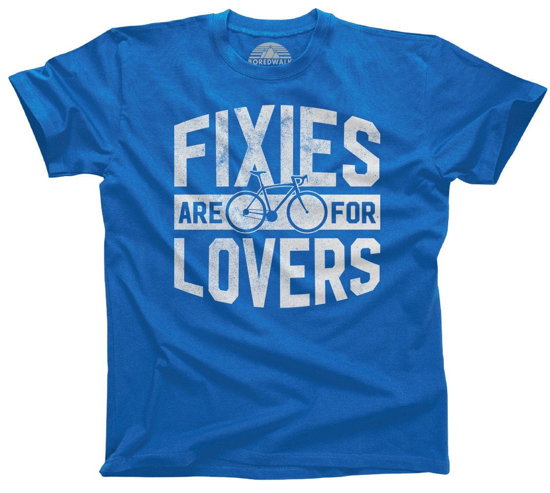 Men's Fixies Are for Lovers Bicycle T-Shirt Fixed Gear Bike