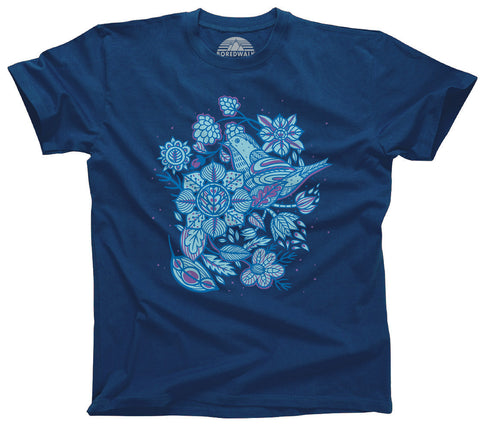 Birds and Flowers T-Shirt  - Relaxed Unisex Fit