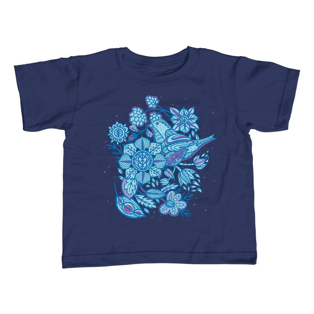 Girl's Birds and Flowers T-Shirt - Unisex Fit