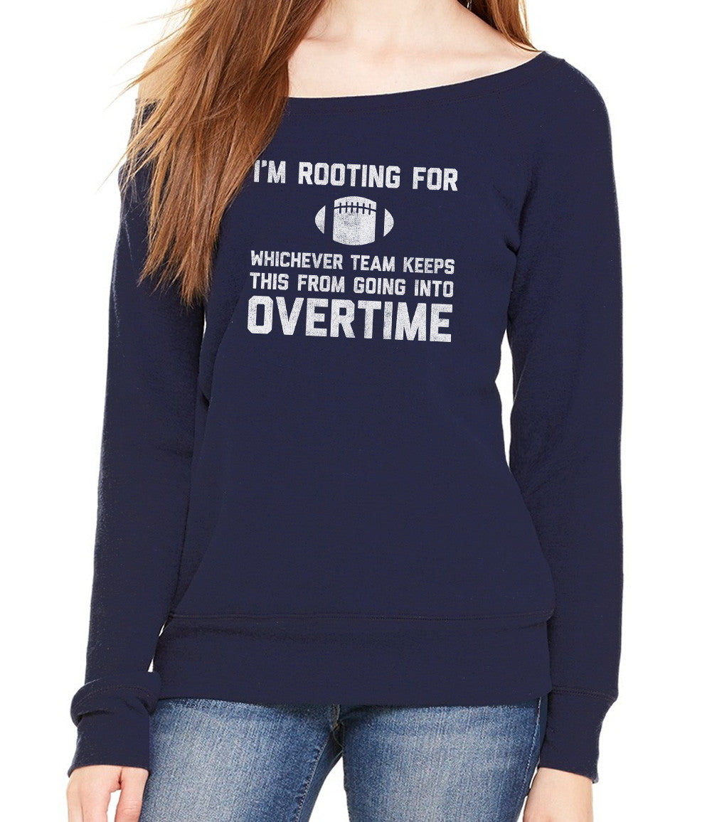 Women's Whichever Team Keeps This From Going To Overtime Scoop Neck Fleece